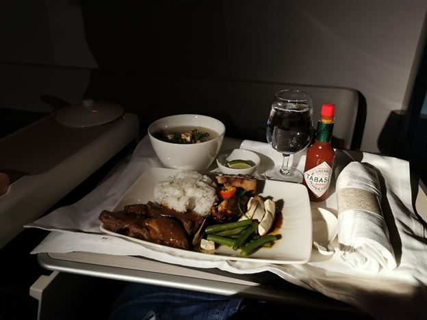 Business Class Meal Selection