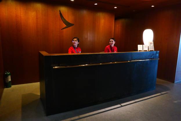Cathay Pacific Lounge Reception Desk