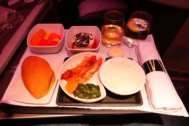Business Class Meal Service