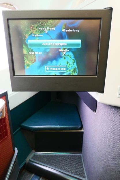 Cathay Pacific Business Class IFE Screen