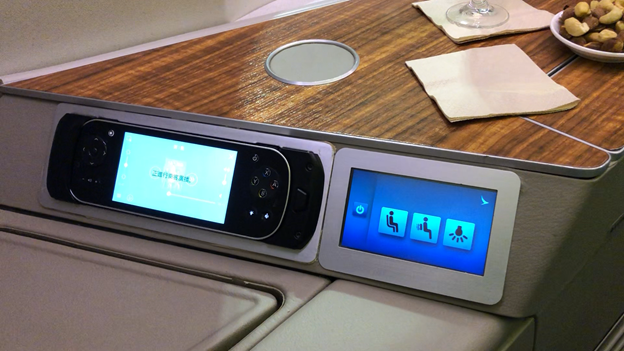Cathay Pacific First Class IFE Remote and Seat Controls