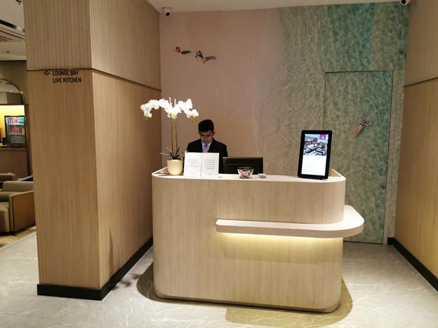 Plaza Premium Reception Desk