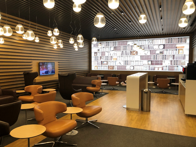 Lufthansa Business Class Seating Area