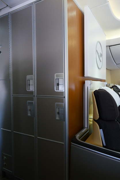 Storage Lockers Exclusive for First Class Passengers