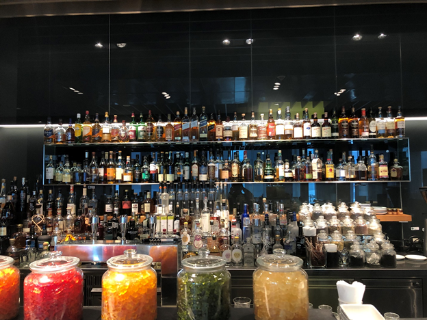 Lufthansa First Class Terminal Massive Liquor Selection
