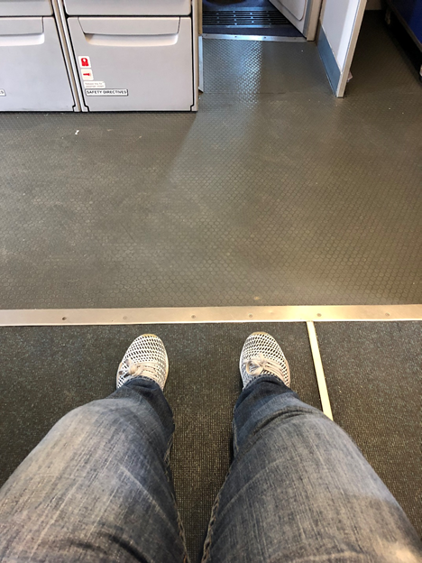 Extra legroom in front
