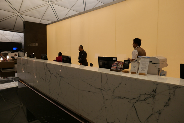 The Wing Lounge Reception Desk