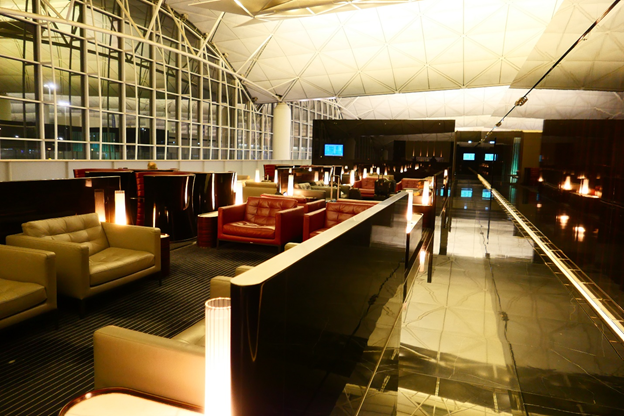 The Wing First Class Lounge Seating Area