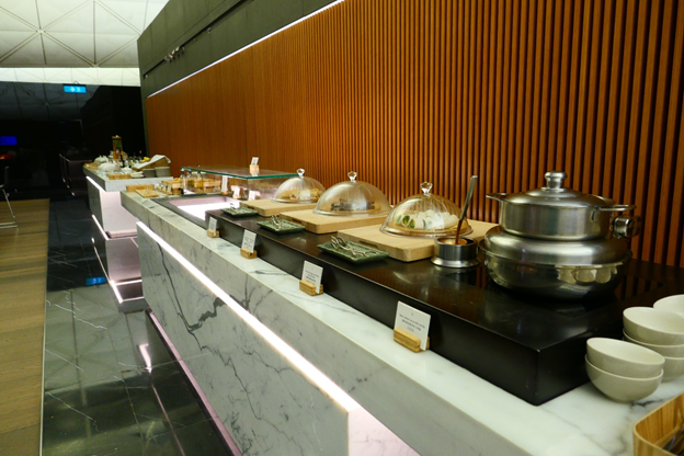 The Wing First Class Lounge Buffet Selection