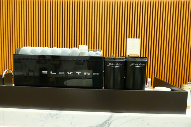 The Wing First Class Lounge Elektra Coffee Machine