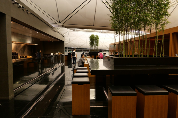 The Wing First Class Lounge The Noodle Bar Seating Area