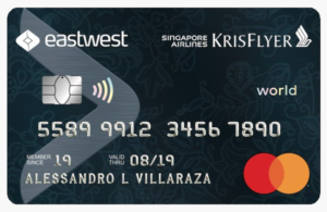 EastWest Singapore Airlines KrisFlyer Platinum Mastercard