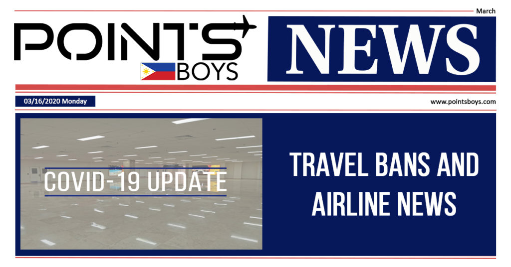 Travel Bans and Airline News March 16, 2020 | Points Boys